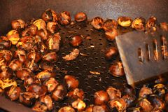 Cooking chestnuts Stock Photography