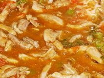 Cooking chicken in a casserole close up Royalty Free Stock Image