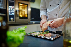 Cooking chicken Royalty Free Stock Images