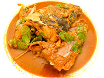 Cooking for chili fish head curry Royalty Free Stock Photo