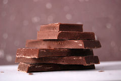 Cooking chocolate Stock Images