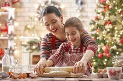 Cooking Christmas cookies Stock Photography