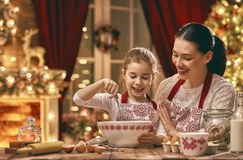 Cooking Christmas cookies Royalty Free Stock Photography