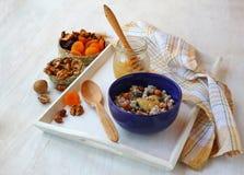 Cooking Christmas ritual porridge - kutya Royalty Free Stock Photos