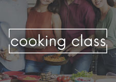 Cooking Class Cuisine Culinary Catering Chefs Concept royalty free stock photography