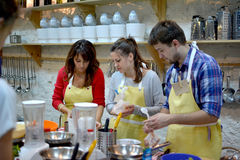 Cooking class, culinary, food and people concept Royalty Free Stock Photos