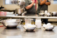 Cooking class - Measuring Cups Stock Photography