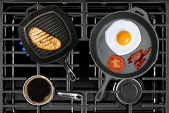 Cooking Classic Breakfast Royalty Free Stock Photo