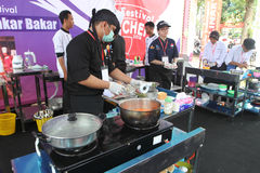 Cooking competition Stock Image