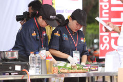 Cooking competition Stock Photography