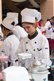 Cooking Competition School of Business Management students (Junior iron chef) Royalty Free Stock Photography