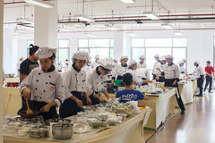 Cooking Competition School of Business Management students (Junior iron chef) Stock Photo