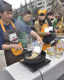 Cooking competitions held in the open square Royalty Free Stock Images