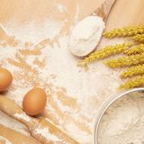Cooking composition Royalty Free Stock Images