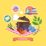 Cooking concept in flat design Stock Image