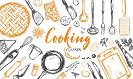 Cooking concept. Frame 2 Royalty Free Stock Photo