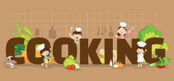 Cooking concept illustration Stock Photography