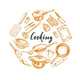 Cooking concept. Kitchen tools 1 Stock Images