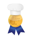 Cooking contest 1st place winner ribbon. Illustration design Royalty Free Stock Photos