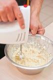 Cooking corn pancakes Stock Image