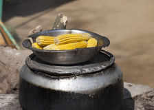 Cooking corn for sale Stock Images