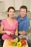 Cooking Couple Stock Image