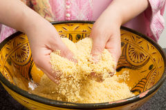 Cooking couscous Royalty Free Stock Photos