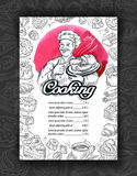 Cooking, cuisine. Design menu restaurant or cafe Royalty Free Stock Image