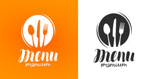 Cooking, cuisine logo. Icon and label for design menu restaurant or cafe. Lettering, calligraphy vector illustration. Cooking, cuisine logo. Icon and label for vector illustration