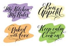 cooking De tendenskalligrafie vector illustratie