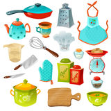 Cooking Decorative Icons Set Stock Photo