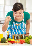 Cooking delicious food Stock Photos