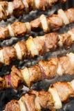Cooking delicious shish kebab Stock Photo