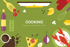 Cooking desk header Royalty Free Stock Photography