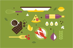 Cooking desk header Royalty Free Stock Images