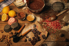 Cooking dessert Stock Photography