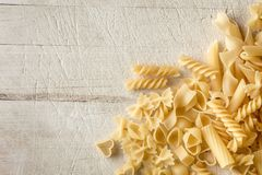 Cooking pasta background Stock Photo