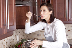 Cooking dinner Royalty Free Stock Photos