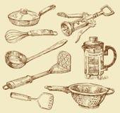 Cooking doodles Stock Photos