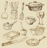 Cooking doodles Royalty Free Stock Photos