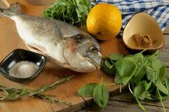 Cooking Dorado Fish Stock Photos