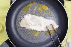 Cooking dory fish Steak Stock Photography