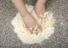 Cooking dough Royalty Free Stock Photo