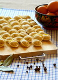 Cooking dumplings. Royalty Free Stock Photo