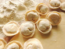 Cooking dumplings. Stock Images