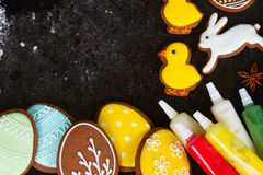 Cooking easter cookies Royalty Free Stock Photography