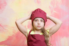 Cooking and eating, childhood and happiness, beauty and fashion, cook Royalty Free Stock Photography