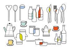 Cooking eating and home ware equipments Stock Image