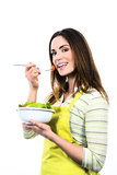 Cooking and eating vegetables Royalty Free Stock Photography
