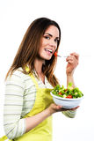 Cooking and eating vegetables Stock Images